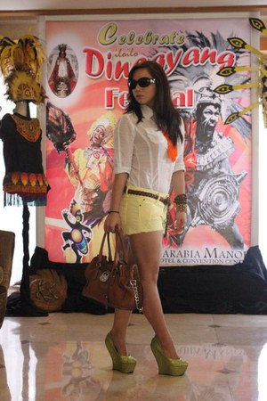 DAS wedges - Michael Kors purse - Zara shorts - padini authentics belt