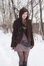 Tan-deadworry-dress-dark-brown-bdg-coat-dark-gray-from-the-30s-vintage-scarf