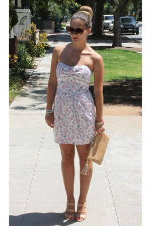 Forever 21 dress - GiGi New York bag - vintage sunglasses - Sole Society wedges