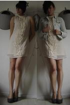 Vero Moda dress - Zara jacket - H&M shoes