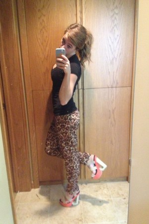 brown H&M pants - salmon Charlotte Russe shoes