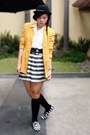 Mustard-second-shop-blazer-white-archive-clothing-blouse-black-forever-21-sk