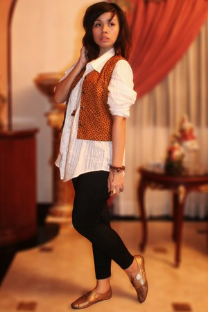 tawny Archive Clothing vest - white shirt - dark brown People are People shoes -