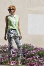 Flower-print-zara-pants-sheer-lace-funky-elegance-top-zara-pumps