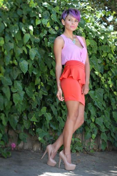 amethyst Funky Elegance blouse - red Funky Elegance skirt
