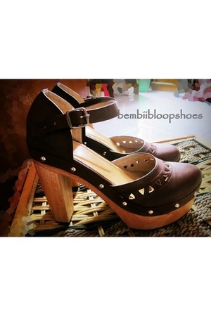 wooden clog bembiibloop Shoes clogs