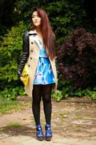 aquamarine forever dress - beige Thrift Storets coat - blue Dollhouse heels