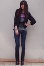 Black-h-m-jacket-h-m-jeans-black-vintage-boots
