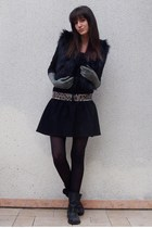 H&M jacket - By Zoe dress - Et Vous belt - asos shoes