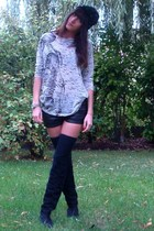Zara t-shirt - H&M shorts - Zara accessories - vintage boots