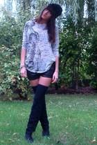 Zara t-shirt - H&M shorts - Zara accessories - vintage boots