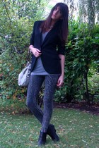 Zara blazer - f21 top - Zara shoes - Zara accessories - H&M leggings