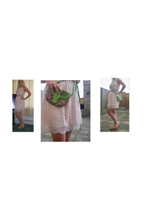 lace new look dress - green Coast bag