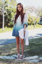 light blue dip dyed dress
