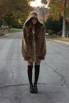 coat - socks - Steve Madden shoes