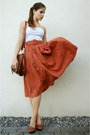 Burnt-orange-skirt