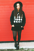 black cut out boots Lovely shoes boots - navy Front Row Shop sweatshirt
