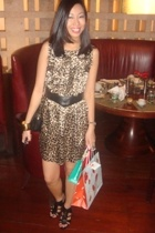 Reko for Topshop dress - belt - Bally purse - Zara