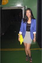 Zara blazer - H&M top - Topshop skirt - Zara - H&M