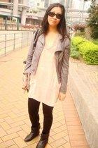Topshop top - jacket - Topshop leggings - Givenchy - Zara boots - Chanel glasses