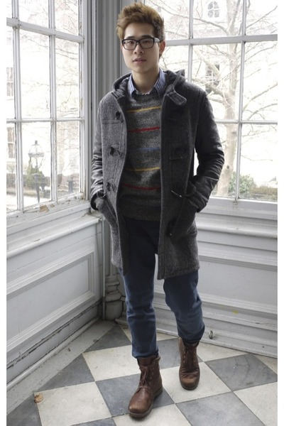 Gusto coat - heather gray OHanlon Mills sweater - Topman pants