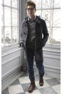 Gusto-coat-heather-gray-ohanlon-mills-sweater-topman-pants