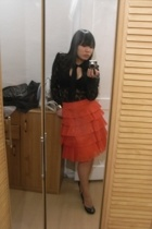Zara skirt - Sisley blouse - H&M shoes - H&M accessories