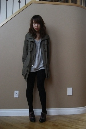 jacket - skirt - - shoes