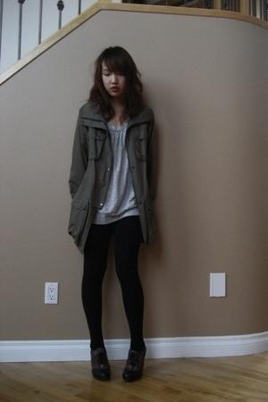 jacket - skirt - - shoes