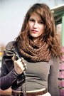 Dark-brown-asos-boots-dark-brown-scarf-charcoal-gray-purse-river-island-bag-