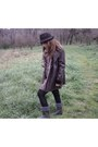 Kiddys-class-boots-blanco-dress-cortefiel-coat-zara-hat