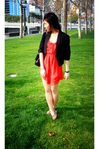 dress - blazer - Urban Outfitters shoes - Chanel accessories