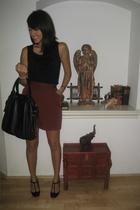 thrifted - in Korea top - Zara - Sonia Rykiel purse