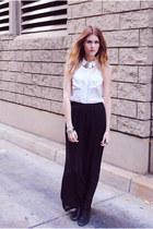 H&M necklace - oxfords mia shoes shoes - H&M top