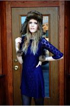 shift dress H&M dress - faux fur Target hat