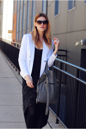 Central Park West blazer - Steve Madden boots - H&amp;M bag