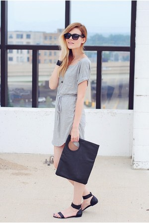 Cheap Monday bag - jersey tunic bobi collections dress - Steve Madden sandals