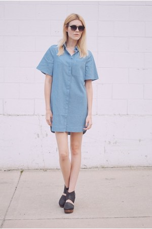 denim The Fifth Label dress - free people clogs