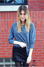 Steve-madden-boots-h-m-sweatshirt-sequins-francescas-collections-skirt