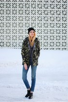 American Eagle pants - sam edelman boots - camo KUT from the kloth jacket