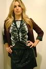 Purple-silence-noise-blazer-black-rodarte-x-target-dress-nine-west-shorts-