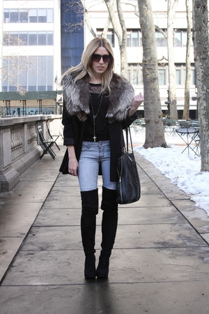 black vintage jacket - black Jeffrey Campbell boots