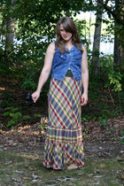 thrifted skirt - thrifted vest - giltcom shoes - thrifted belt