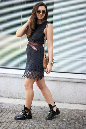 balenciaga boots - Zara dress - H&M sunglasses