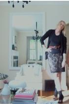 aa shirt - Sinequanone skirt - shoes - belt - sweater