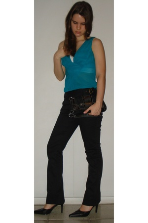 Armani Exchange blouse - Siberian pants - Armani Exchange purse