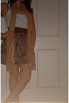 forever 21 top - forever 21 scarf - Target belt - forever 21 skirt - forever 21