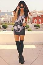 black studded lace up choiescom boots - black ribs Blackmilkclothingcom dress
