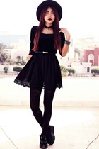 black creepers choiescom shoes - black Sheinsidecom dress
