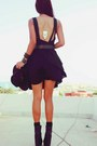 Black-romwe-dress